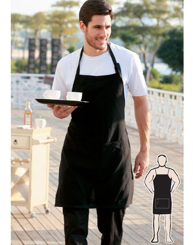 cotton drill full bib apron without pocket