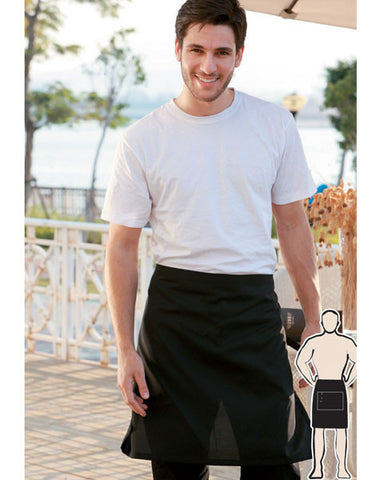 cotton drill half apron without pocket