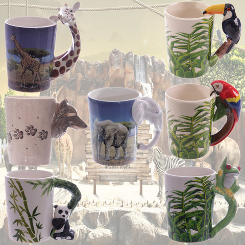 Creative Animal Shaped Handle Mugs