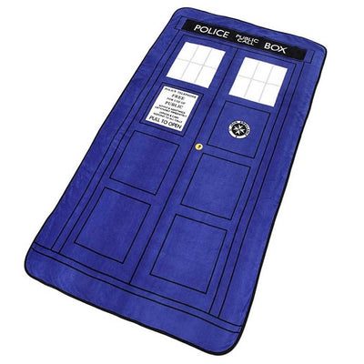 DOCTOR WHO POLICE PUBLIC CALL BOX FLEECE BLANKET