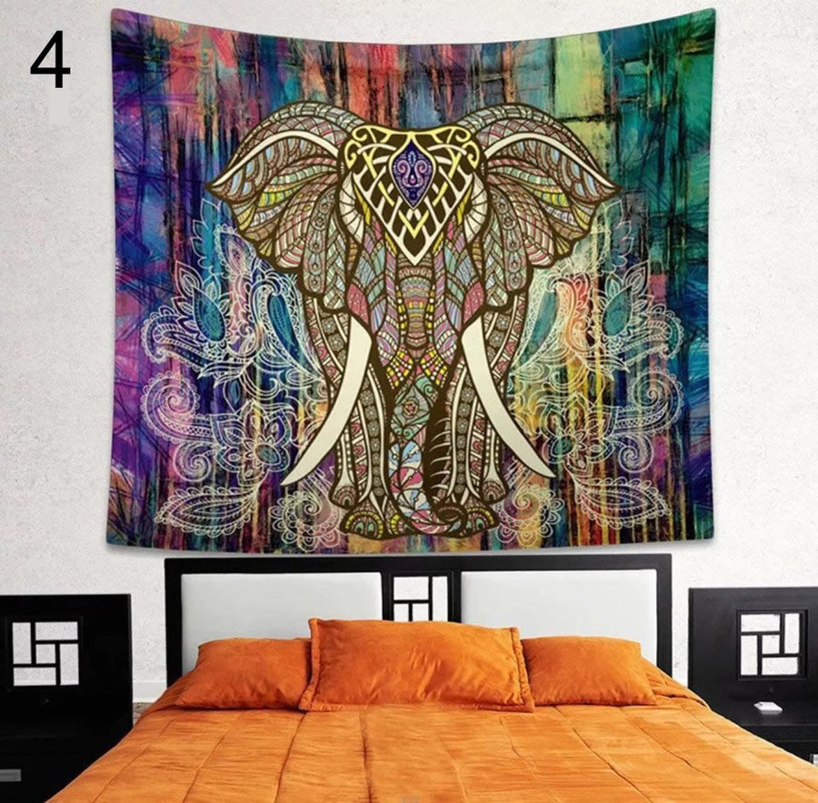 Cute Elephant Mandala Tapestry