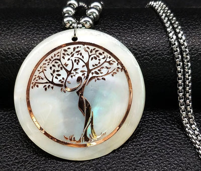 Stainless Steel Statement Tree Necklace