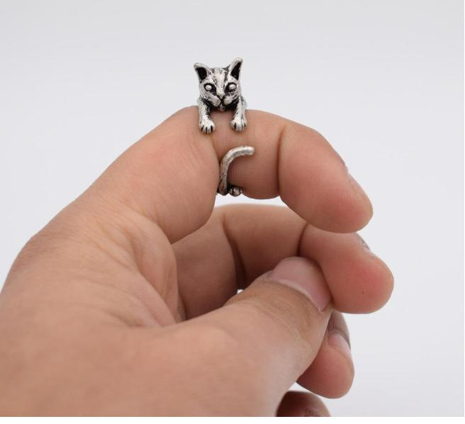 Cat Vintage Adjustable Ring