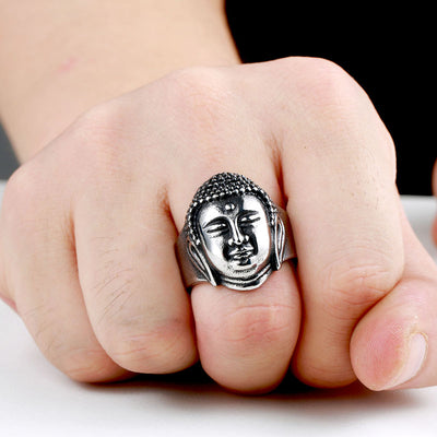 Stainless Steel Buddha Ring