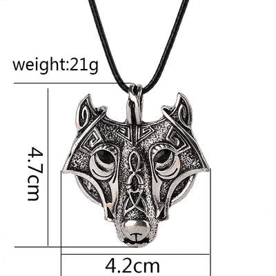 Powerful Wolf Head Necklace