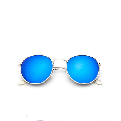 Retro Round Alloy Sunglasses