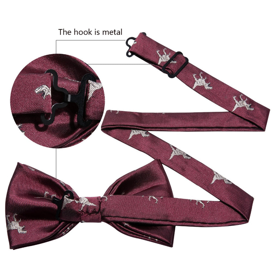 Silk Dinosaur Bow Tie Set