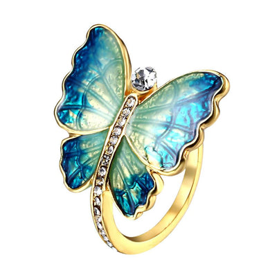 Butterfly Rhinestone Ring