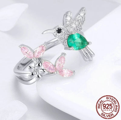 Hummingbird Sterling Silver Ring