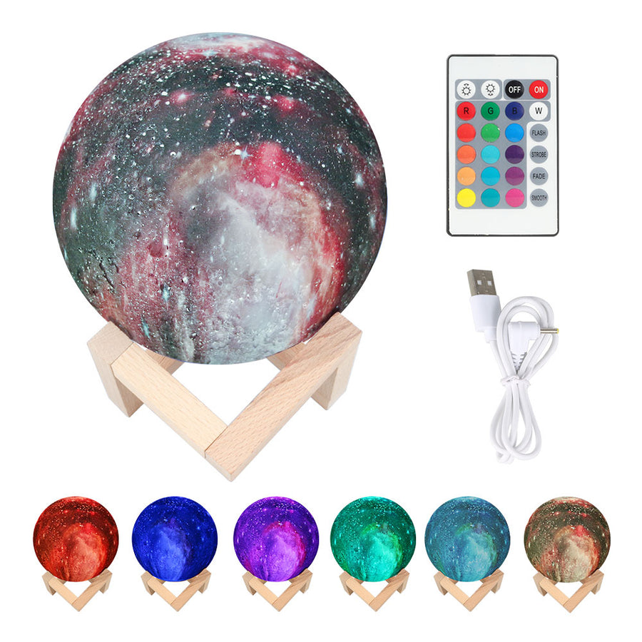 3D Galaxy Star Color-Changing Lamp