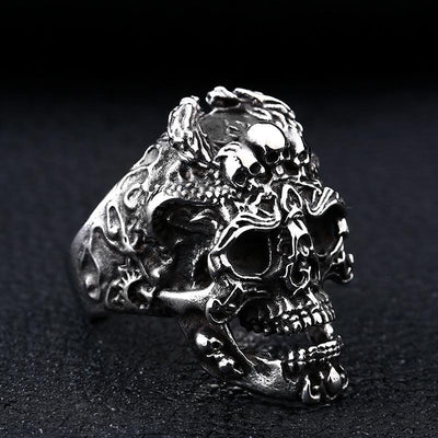 Stainless Steel Skull Warrior Ring
