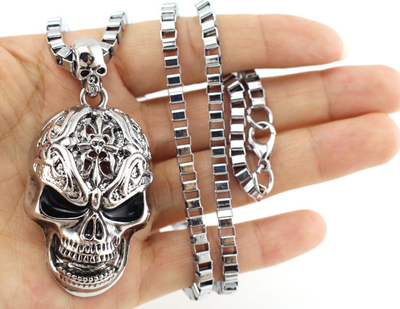 3D Skull Pendant Necklace