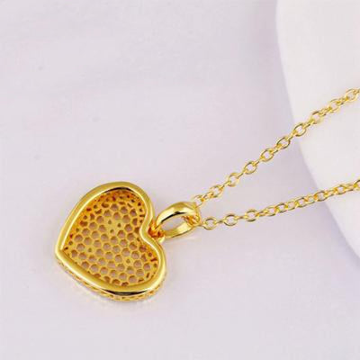 Heart Honeycomb Necklace