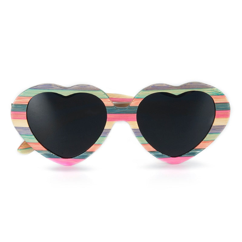Bamboo Heart Sunglasses