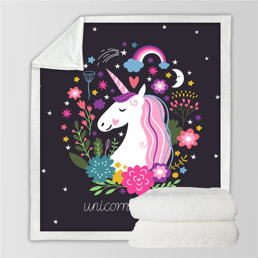 SUPER SOFT MICROFIBER 'UNICORNS ARE REAL' BLANKET