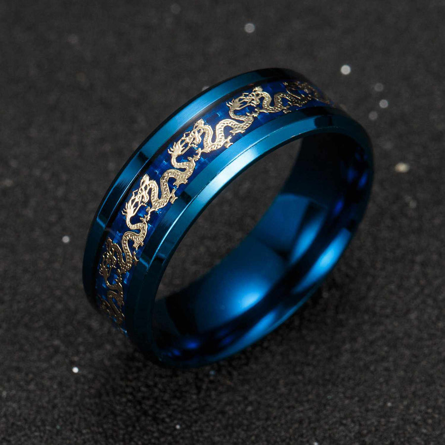 Classic Stainless Steel Dragon Ring