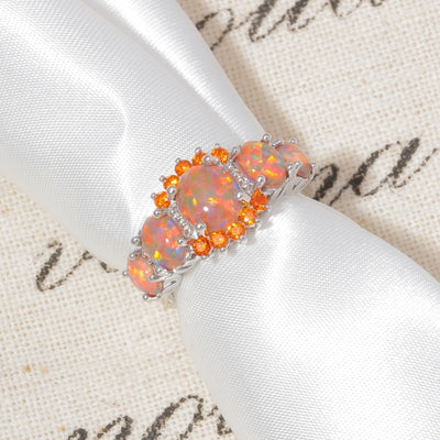 Powerful Fire Opal Ring