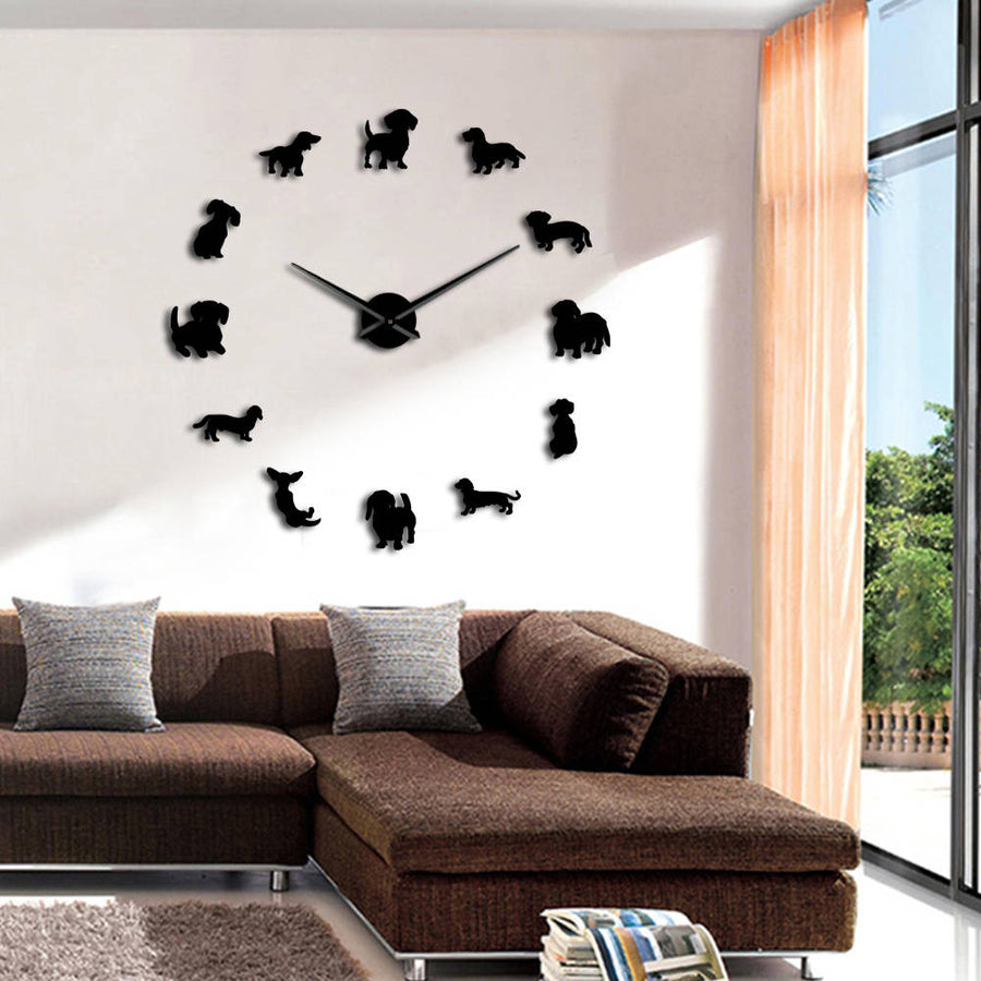 Puppy Style Frameless Wall Clock