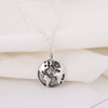 Silver Antique Globe Necklace