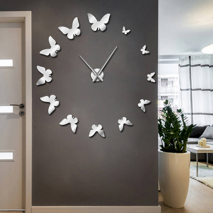 Butterfly Frameless Luxurious Wall Clock