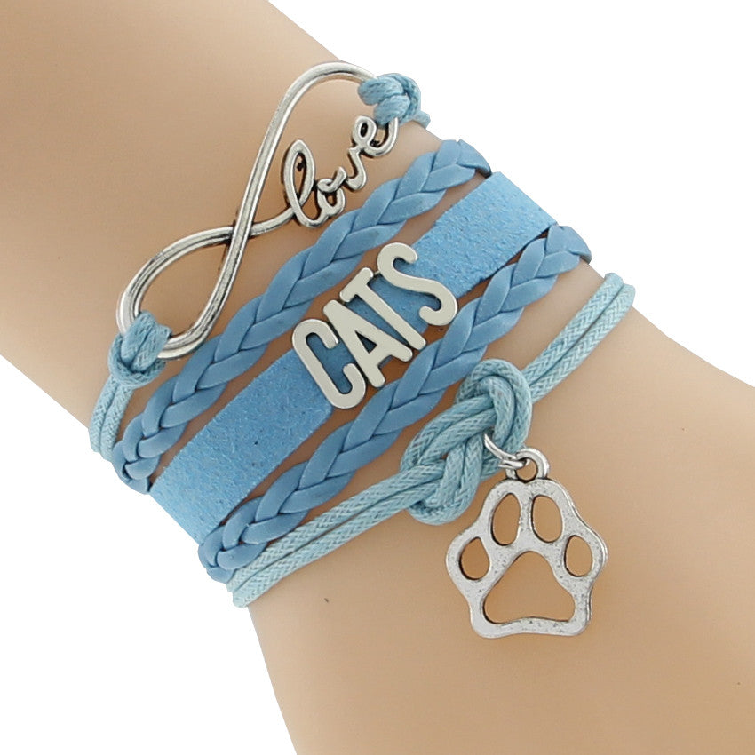 Love Cats Infinity Multilayer Bracelet