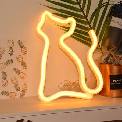 Animal LED Wall Lamp - Dinosaur, Cat, Dolphin and Unicorn!