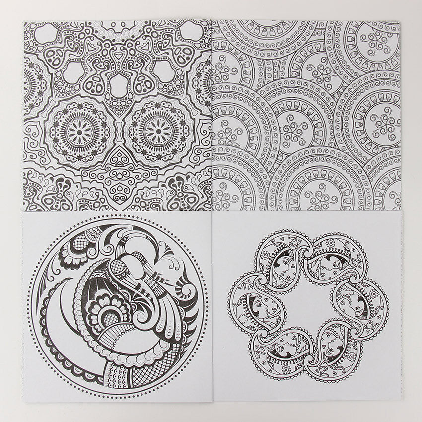 Zen Mandala Coloring Book (24 pgs) - Treasure Fan