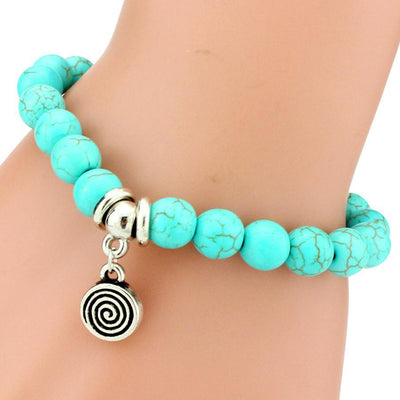 Turquoise Friendship Bracelet With Silver Plated Charms