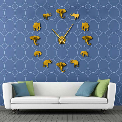 Elephant Style DIY Frameless Wall Clock