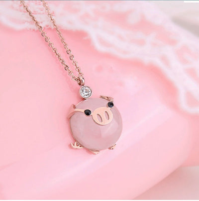 Perfect Pink Pig Pendant
