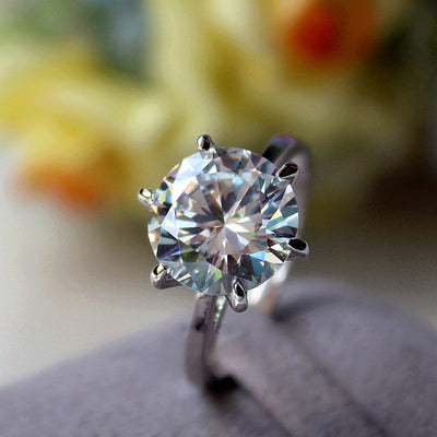 Silver Crystal Promise Ring