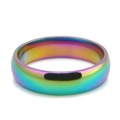 Titanium Rainbow Equality Ring