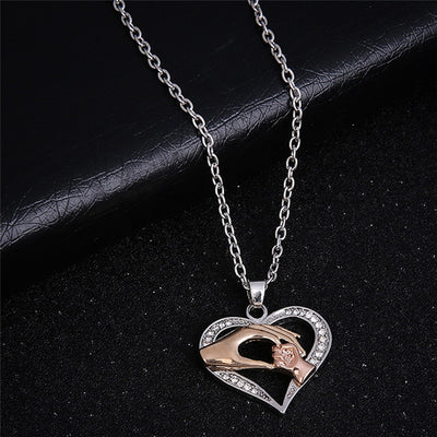 Mothers Golden Hand Necklace