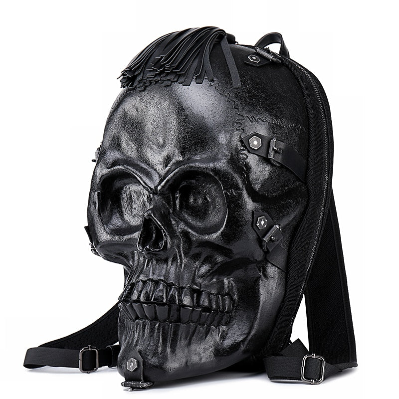 3D Skull Punk Backpack