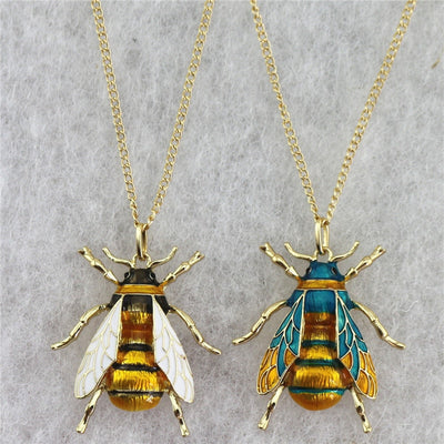 Bee Colorful Pendant Necklace