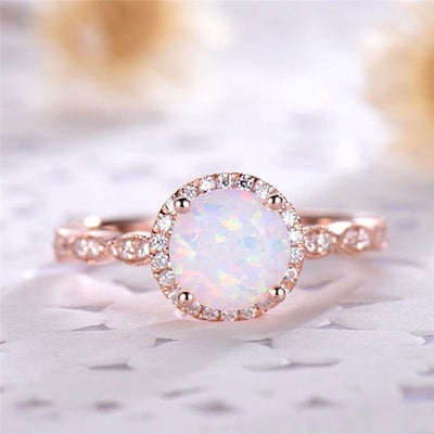 Rose Gold Vintage Opal Ring