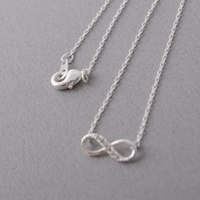Infinity Crystal Pendant Necklace