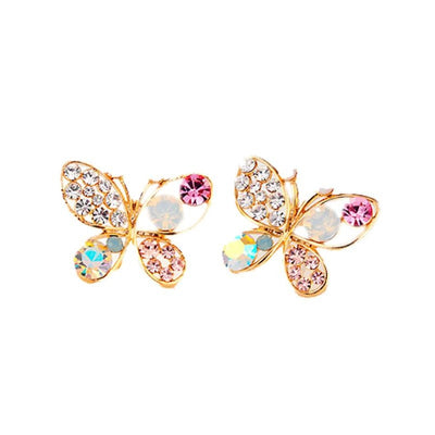 Cystal Pearl Butterfly Earrings