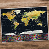 Visual Travel Scratchable World Map