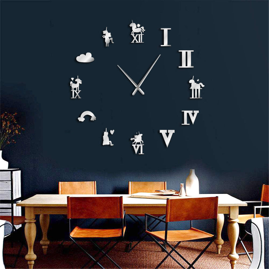 Unicorn Magical Frameless Wall Clock