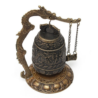 Bell - Tibet Carved Dragon Buddhist Bell Decoration