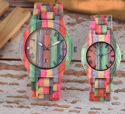 Bamboo Colorful Wristwatch