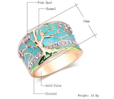 Lucky Tree Opal Green Ring
