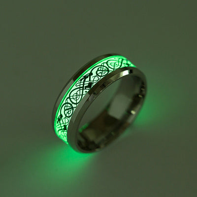 Stainless Steel Glowing Dragon Ring