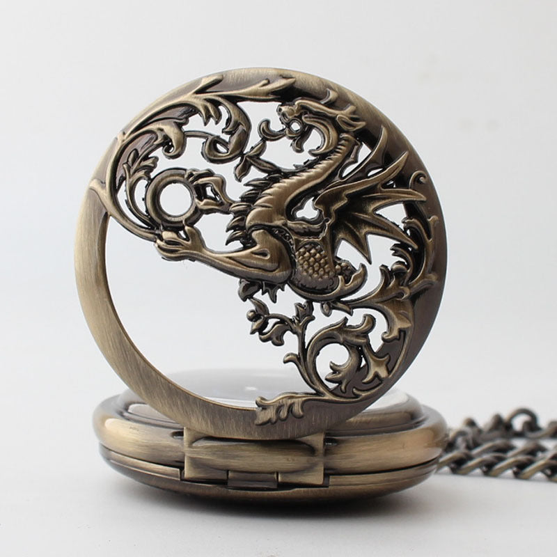 Dragon Vintage Style Pocket Watch