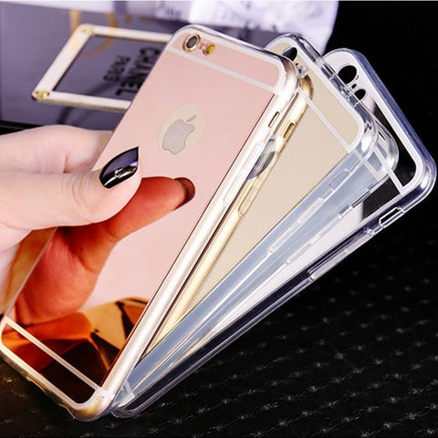 IPhone Case - Luxury Mirror Back Soft Case For Iphone 5,5S,SE Clear