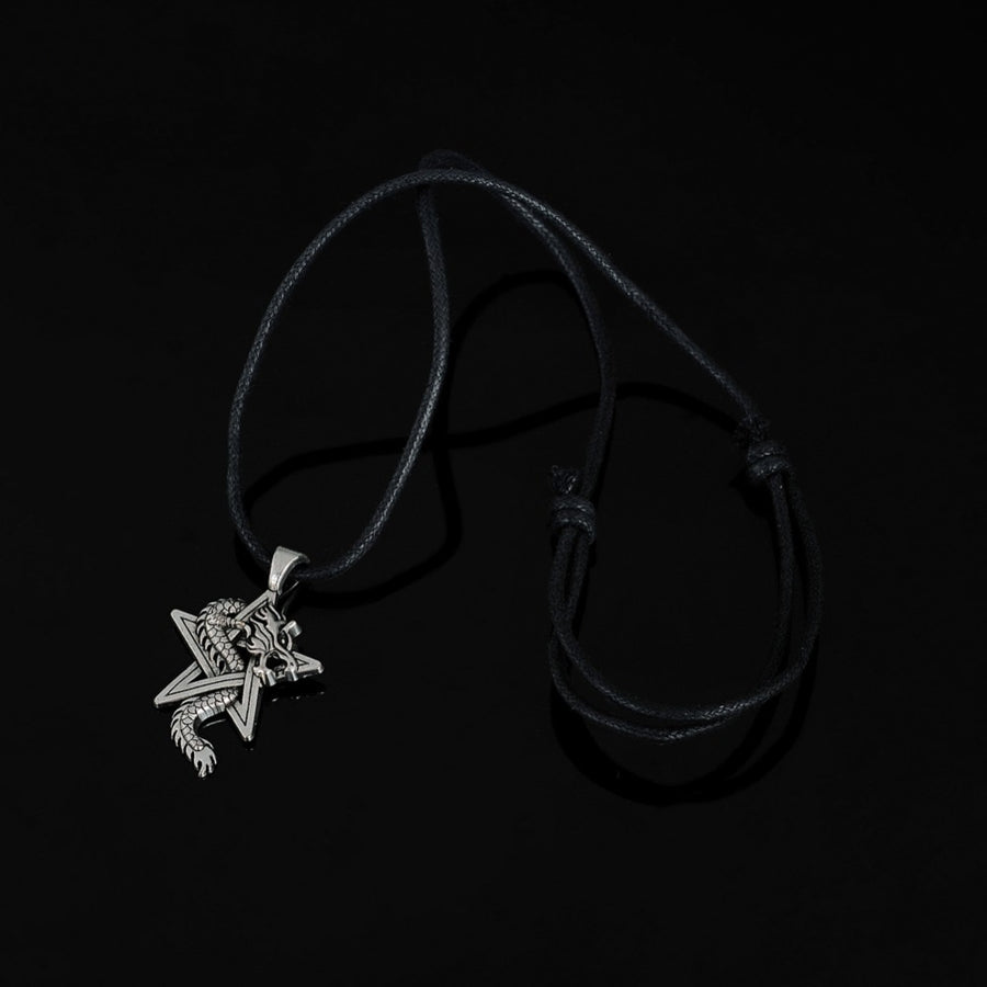 Dragon Circling Star Gothic Necklace