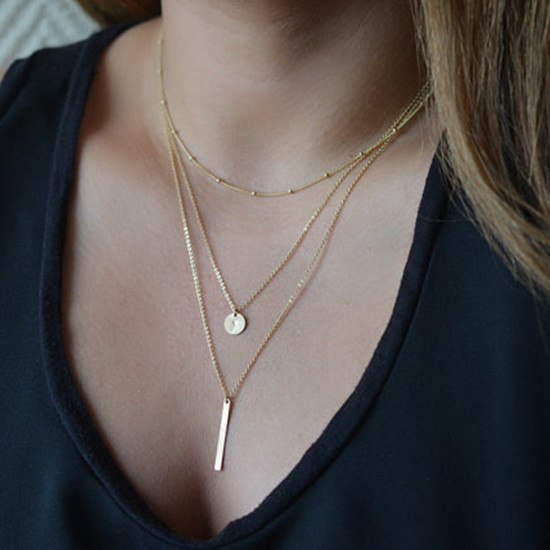 Necklace - European Simple Plated Coin Necklace