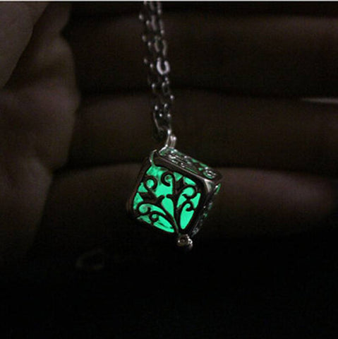 Necklace - Glow In The Dark Pendant Necklace (Round Fairy Locket)