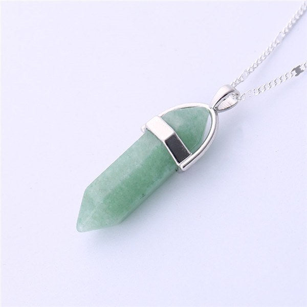 Necklace - Multi Color Quartz Pendant Necklaces
